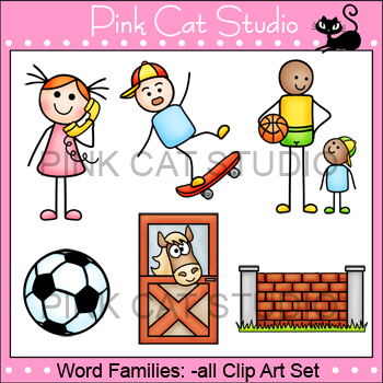Rime clipart id theft Set Rhyming Word Teachers wall