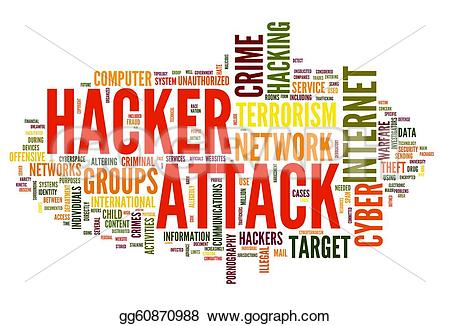 Rime clipart hacker Hacker isolated Illustration word concept