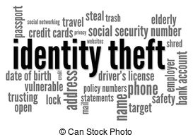 Rime clipart id theft Stock Theft words Images Word