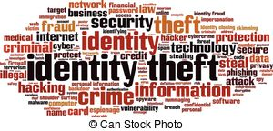 Rime clipart id theft Illustrations images Vector Theft word