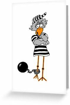Rime clipart jailbird Jailbird card Collection clipart zazzle