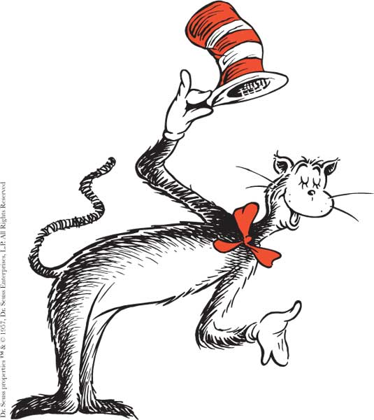 Birthday clipart cat in hat Dr clipart jpg Seuss