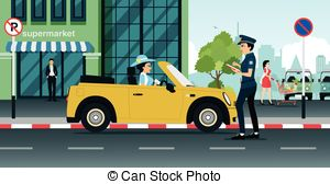 Rime clipart traffic cop Vectors Police Ticket police traffic