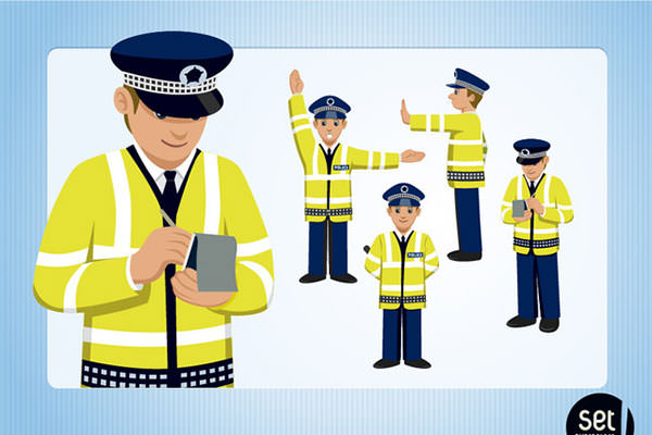 Rime clipart traffic cop Clipart Vector Clipart Character Police