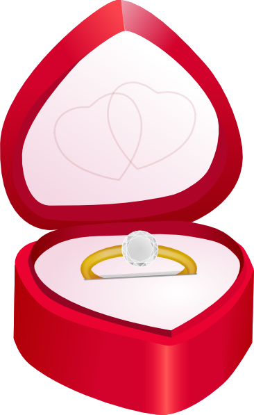 Diamond clipart ring box Animated clipart engagement clipart –