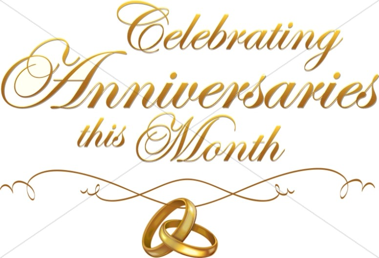 Ring clipart anniversary Anniversary script  with Anniversary