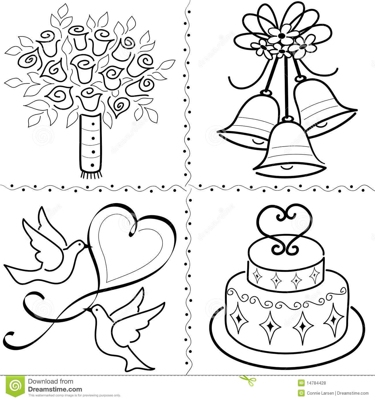 Wedding clipart line art Art  Set/eps Royalty Clip