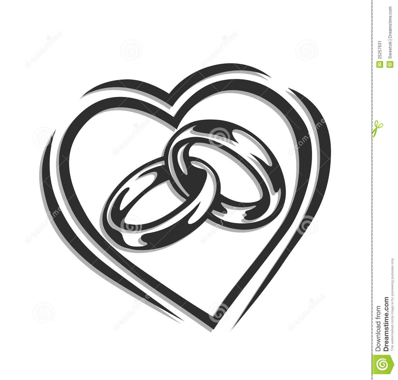 Ring clipart couple ring Ring Black white collection and