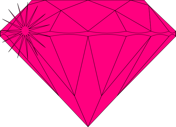 Ring clipart diamond sparkle Clip Pink  Pink Art