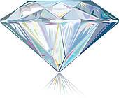 Ring clipart diamond sparkle Diamond Art Diamond Clip GoGraph