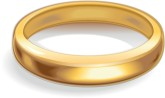 Single clipart wedding band Ring Ring Band Gold Clipart