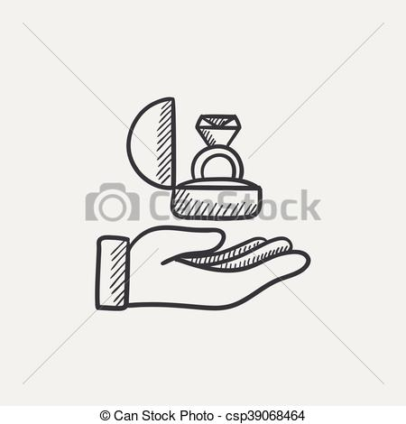 Ring clipart hand holding Gift sketch of holding ring
