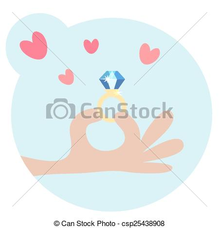 Ring clipart hand holding Hand csp25438908 Hand Human Ring