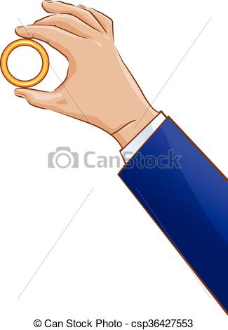 Ring clipart hand holding A csp36427553 a holding vector