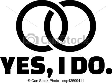 Ring clipart i do Ring with I Vector do