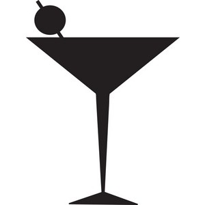 Whit clipart martini glass Image line glass cocktail art