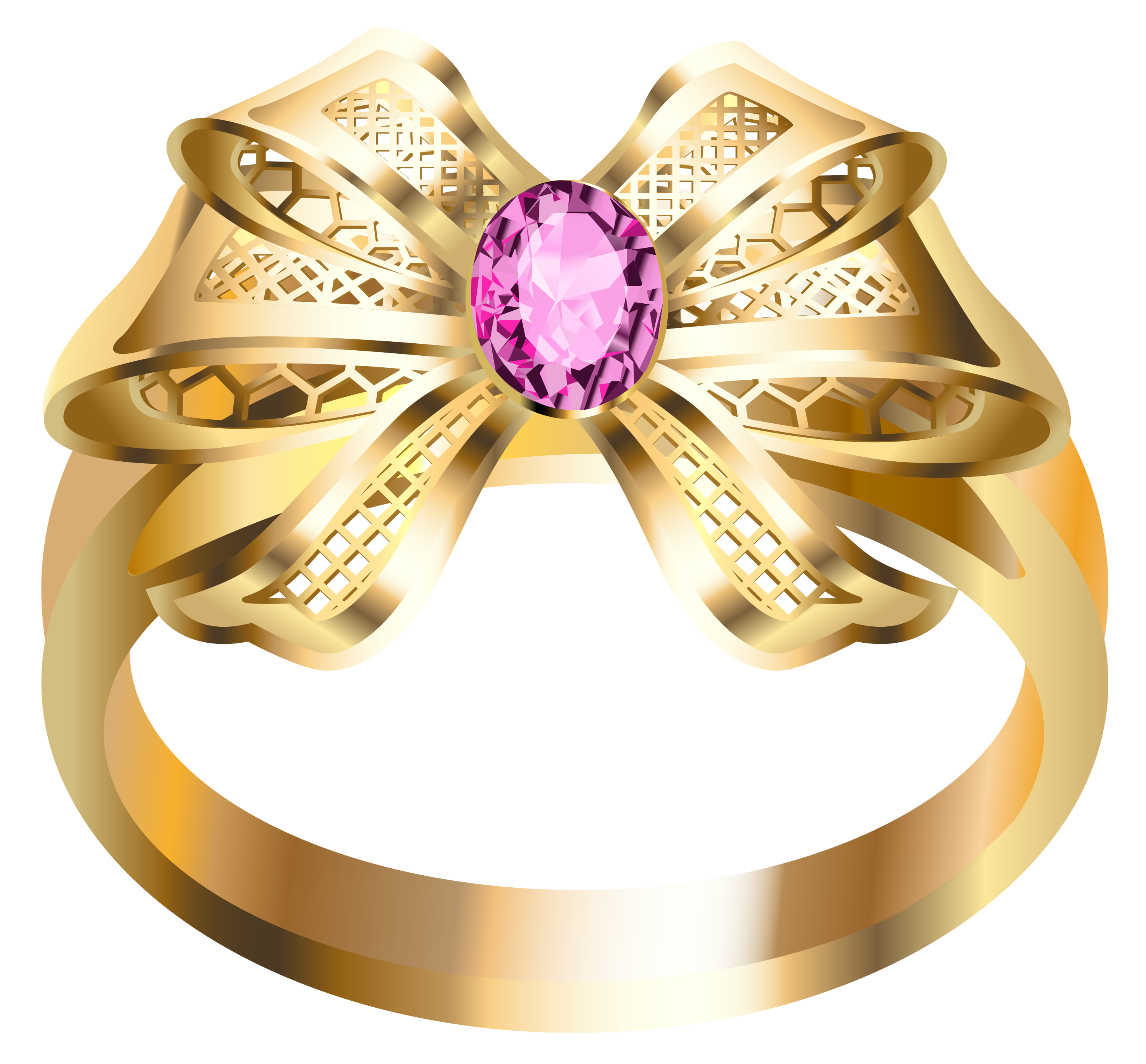 Ring clipart pink ring #13