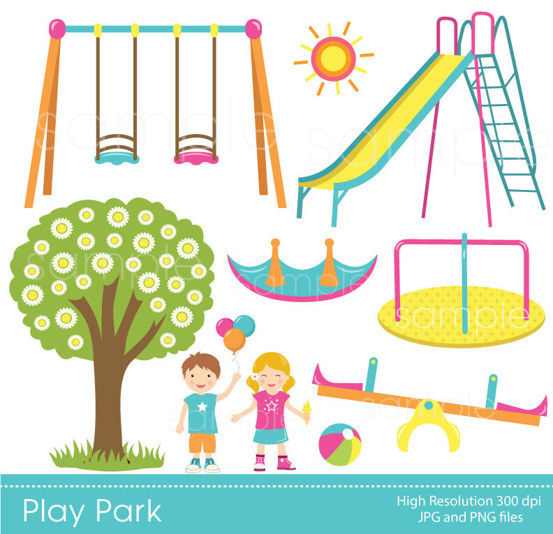 Park clipart outside playground Playground USE Clipart Playground PERSONAL