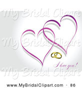 Ring clipart purple wedding And Clipart Bridal with Royalty