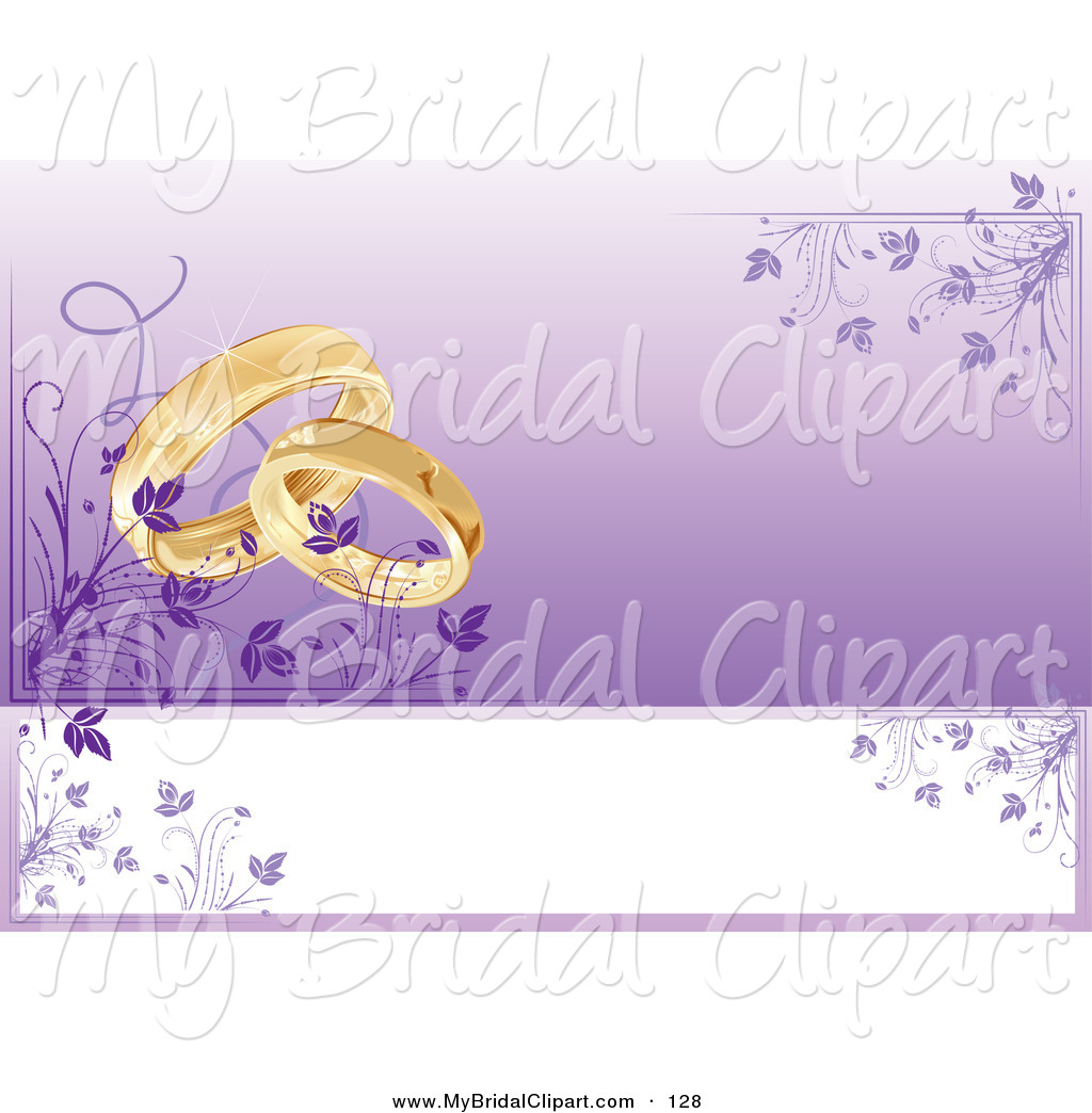 Ring clipart purple wedding Free Card Wedding Design of