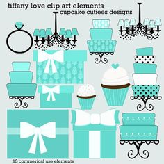 Light Blue clipart tiffany and co Cupcakecutiees  Logo Logo Cake