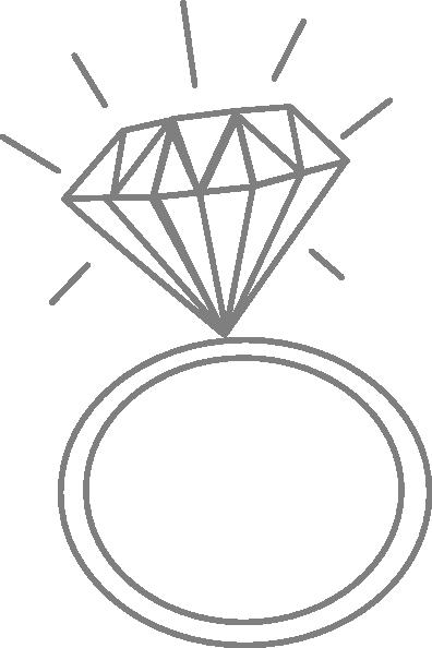 Diamond clipart diamond ring Clipart rings Wedding clipart rings