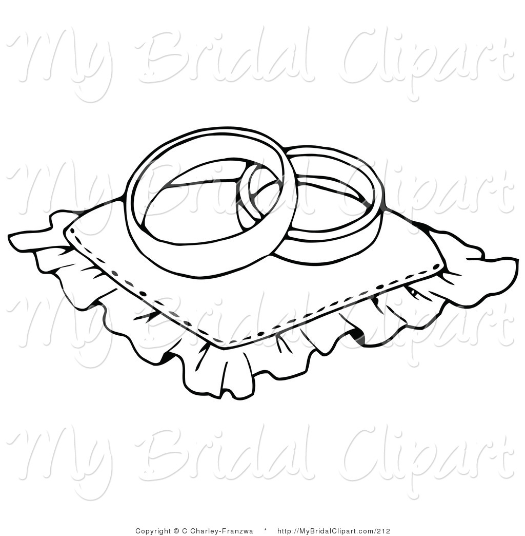Ring clipart two Stock of of Pillow Wedding
