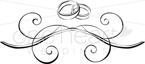 Ring clipart two Flourish Rings Rings Wedding Clipart