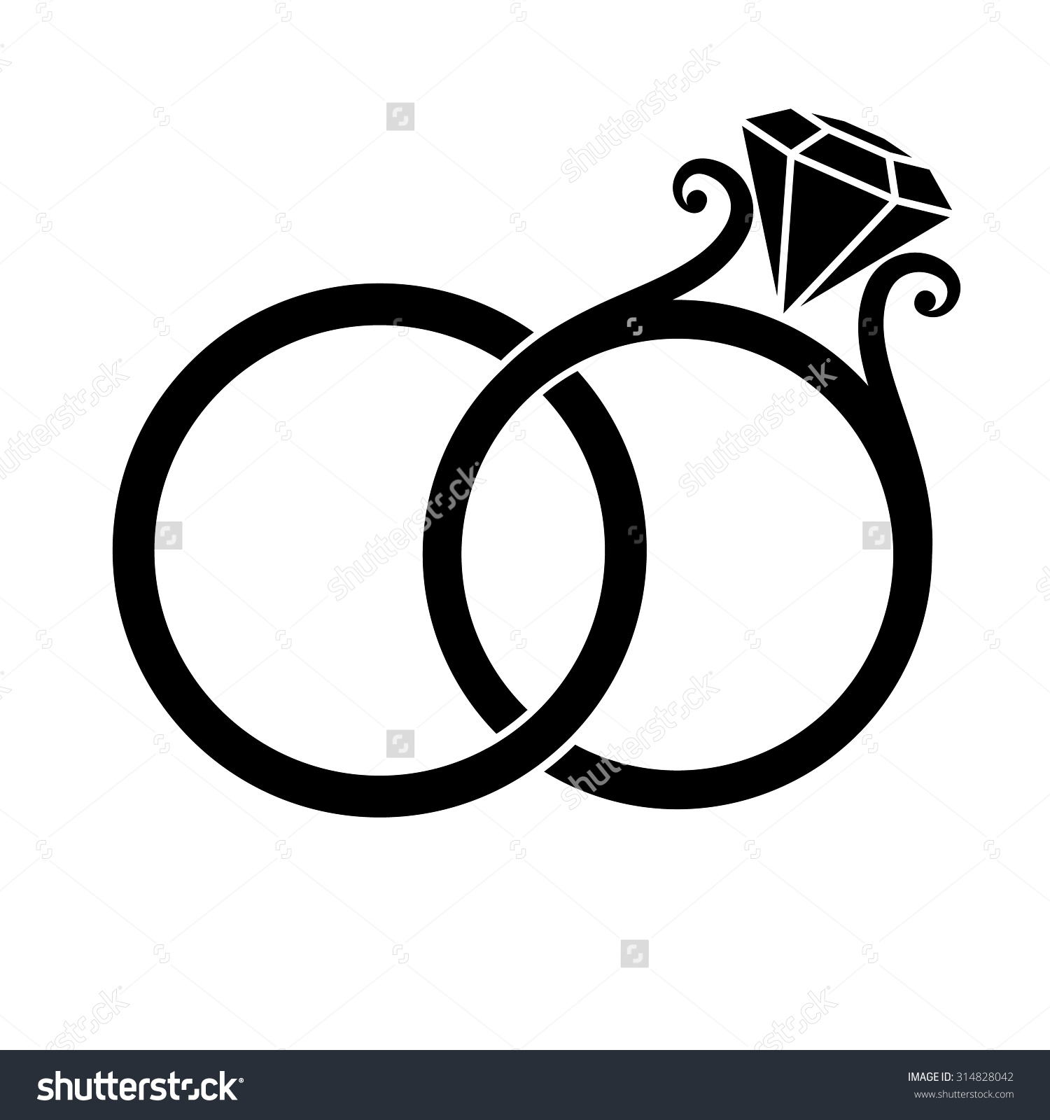 Ring clipart two Rings Wedding Wedding Clipart Two