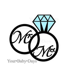 Wedding clipart saying Engagement RINGS Clip Art files