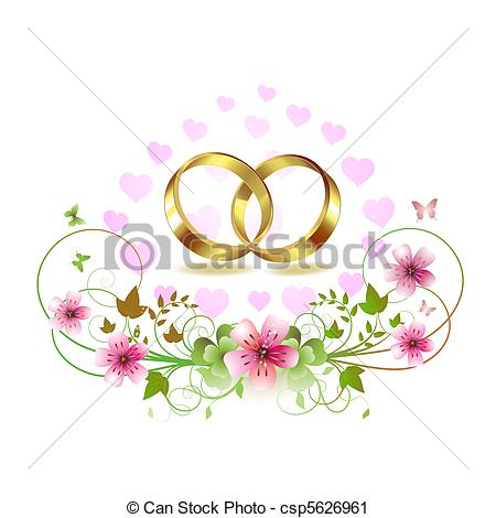 Ring clipart wedding decoration Hearts wedding  Clip decorated