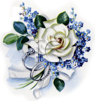 Ring clipart wedding flower #10
