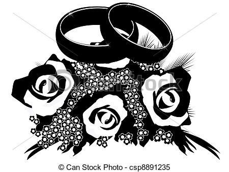Ring clipart wedding flower #11