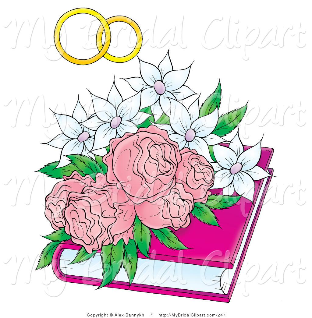Ring clipart wedding flower #4