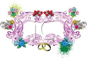 Ring clipart wedding flower #5