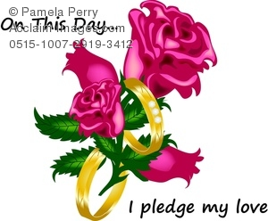 Ring clipart wedding vows Art of of a Roses