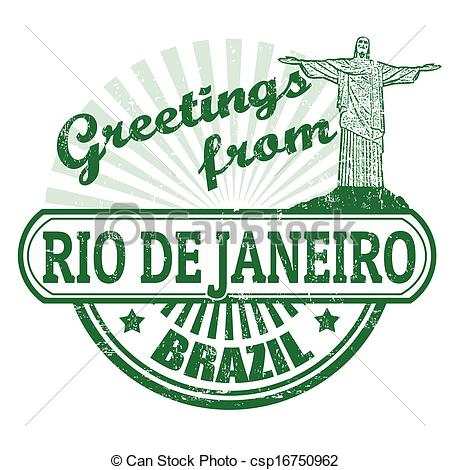 Rio De Janeiro clipart Greetings from Clip stamp of