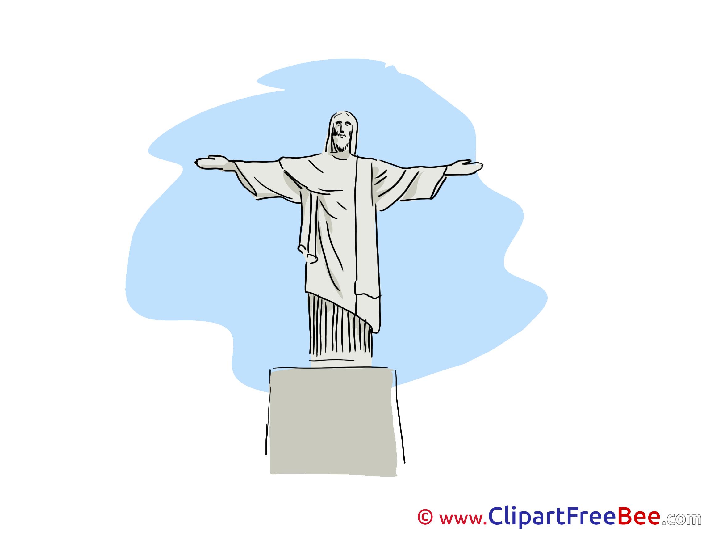 Rio De Janeiro clipart  Clipart download Statue Christ