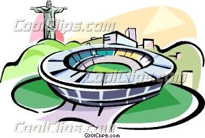 Rio De Janeiro clipart  Clip Brazil stadium Rio