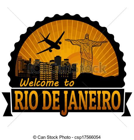 Rio De Janeiro clipart  Rio stamp  Green