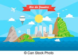 Rio De Janeiro clipart  Clipart  template janeiro