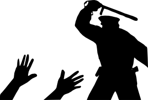 Riot clipart picket sign Vector online Police clip Clker