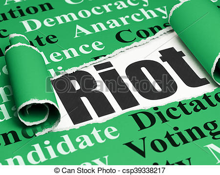 Anarchy clipart riot The of rendering concept: Politics