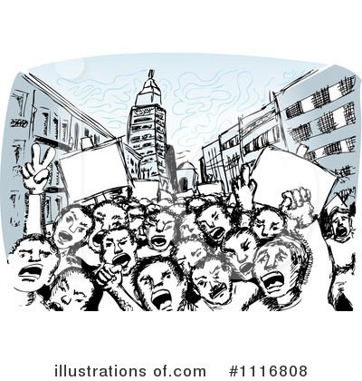 Riot clipart crowded #3