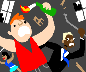 Riot clipart crowded #4
