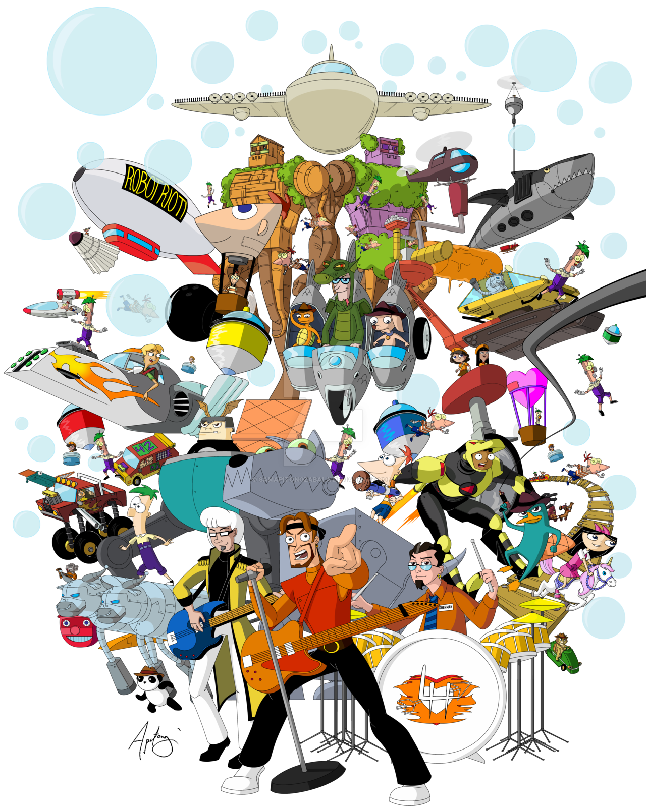 Riot clipart crowded #11