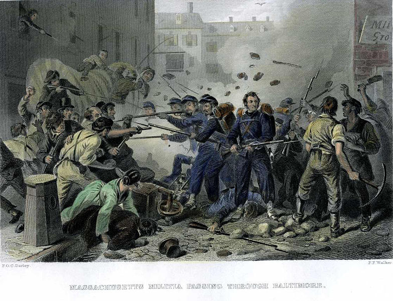 Riot clipart crowded Blue Coats Gray 783px Baltimore_Riot_1861