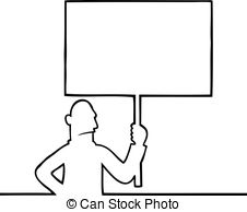 Riot clipart picket sign #7