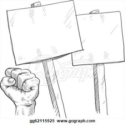 Riot clipart picket sign Protest Clipart #17 Clipart Clipart