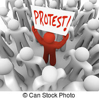 Riot clipart picket sign #6